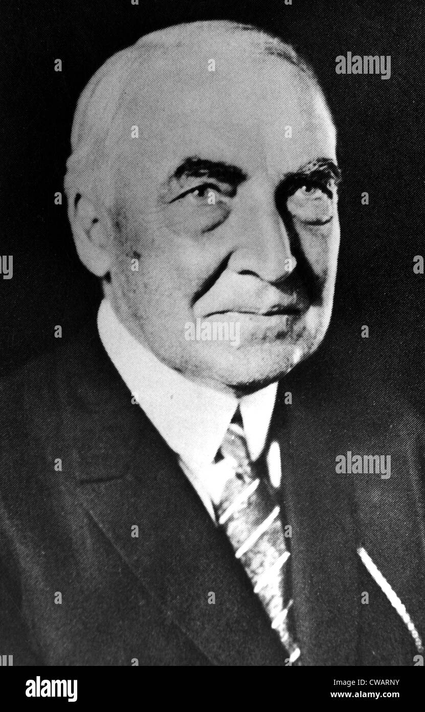 Warren G. Harding, 29th President of the United States (1921-1923).. Courtesy: CSU Archives / Everett Collection - Stock Image