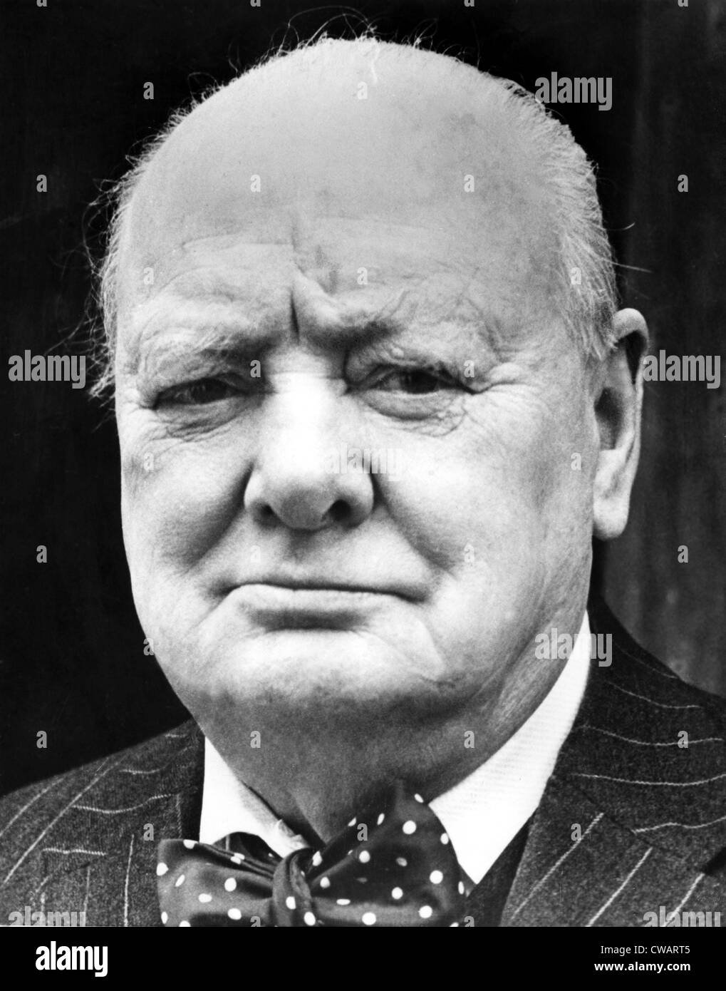 Winston Churchill, (1874-1965) British Prime Minister and 1953 Nobel Prize for Literature. On being returned to - Stock Image