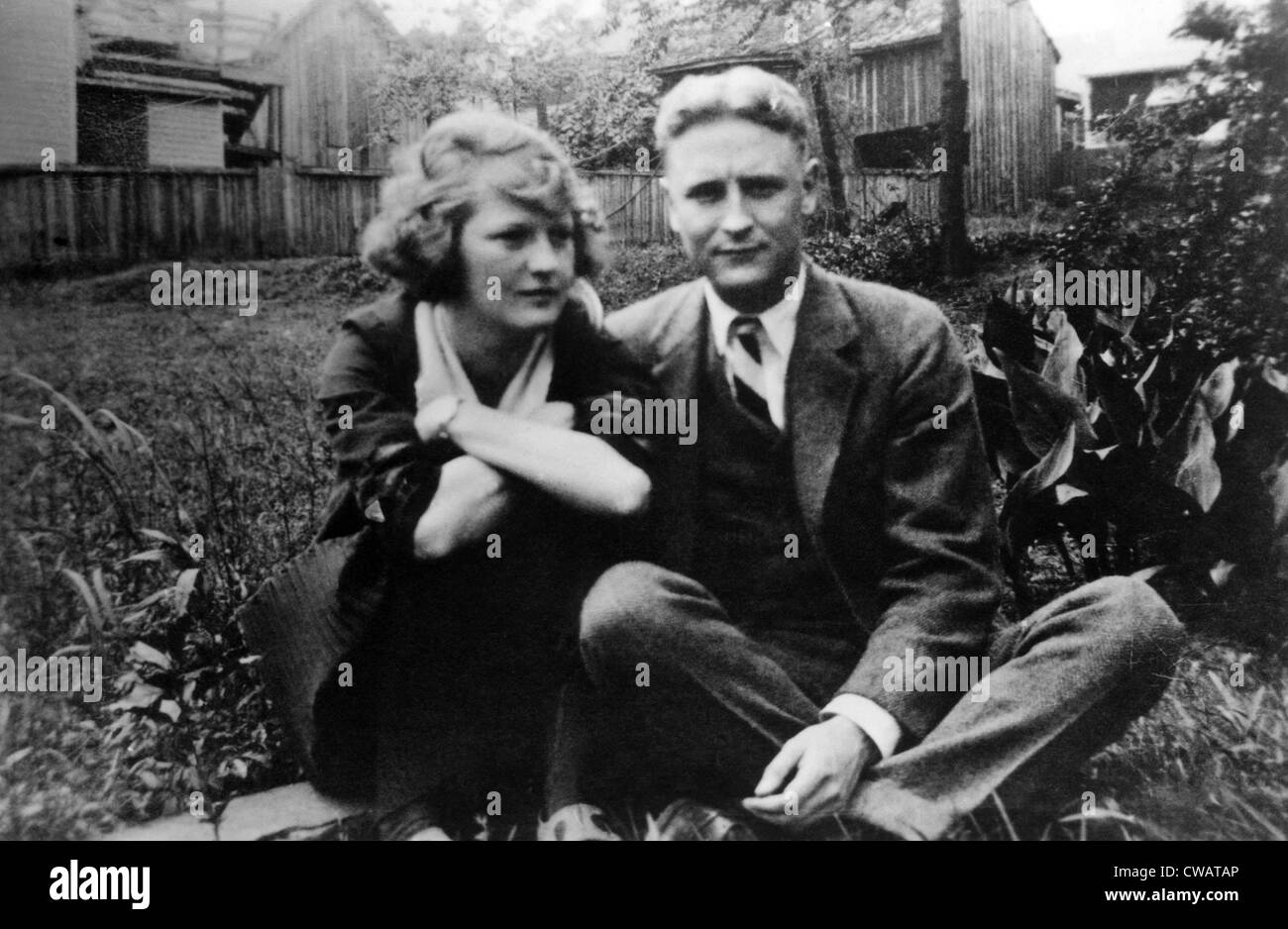Zelda Fitgerald and F.Scott Fitzgerald, possibly in the 1930s.  Courtesy CSU Archives/Everett Collection. - Stock Image