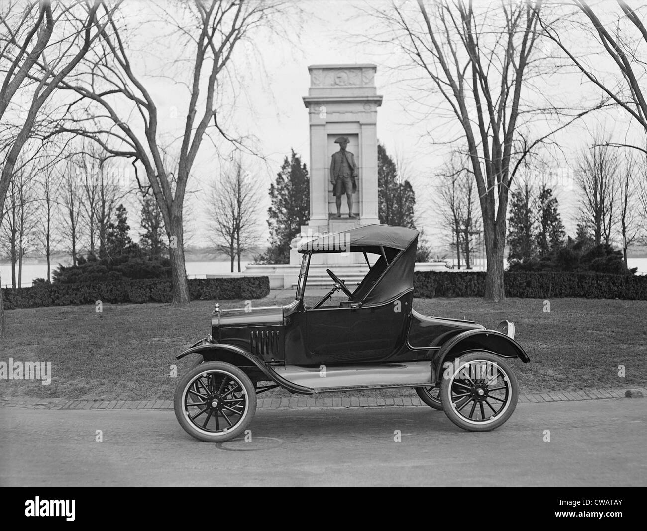 Ford Model T, roadster with a single seat and room for only two to three people, parked on the Mall in Washington, - Stock Image