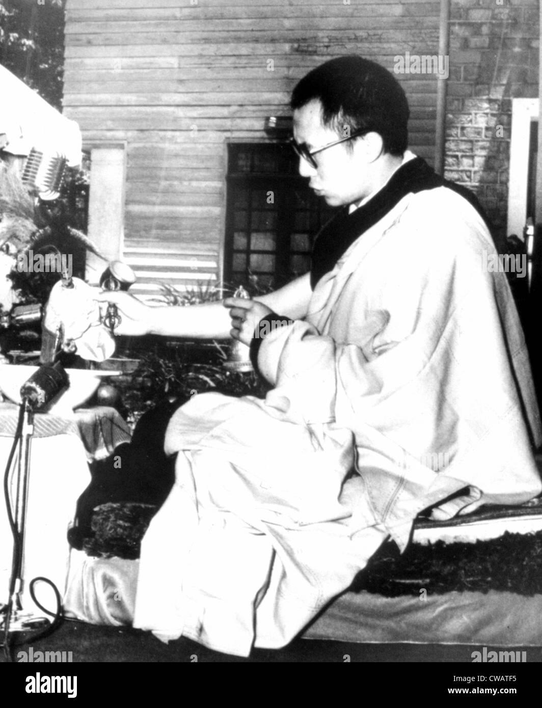 Dalai Lama, 5/27/59. Courtesy: CSU Archives / Everett Collection - Stock Image