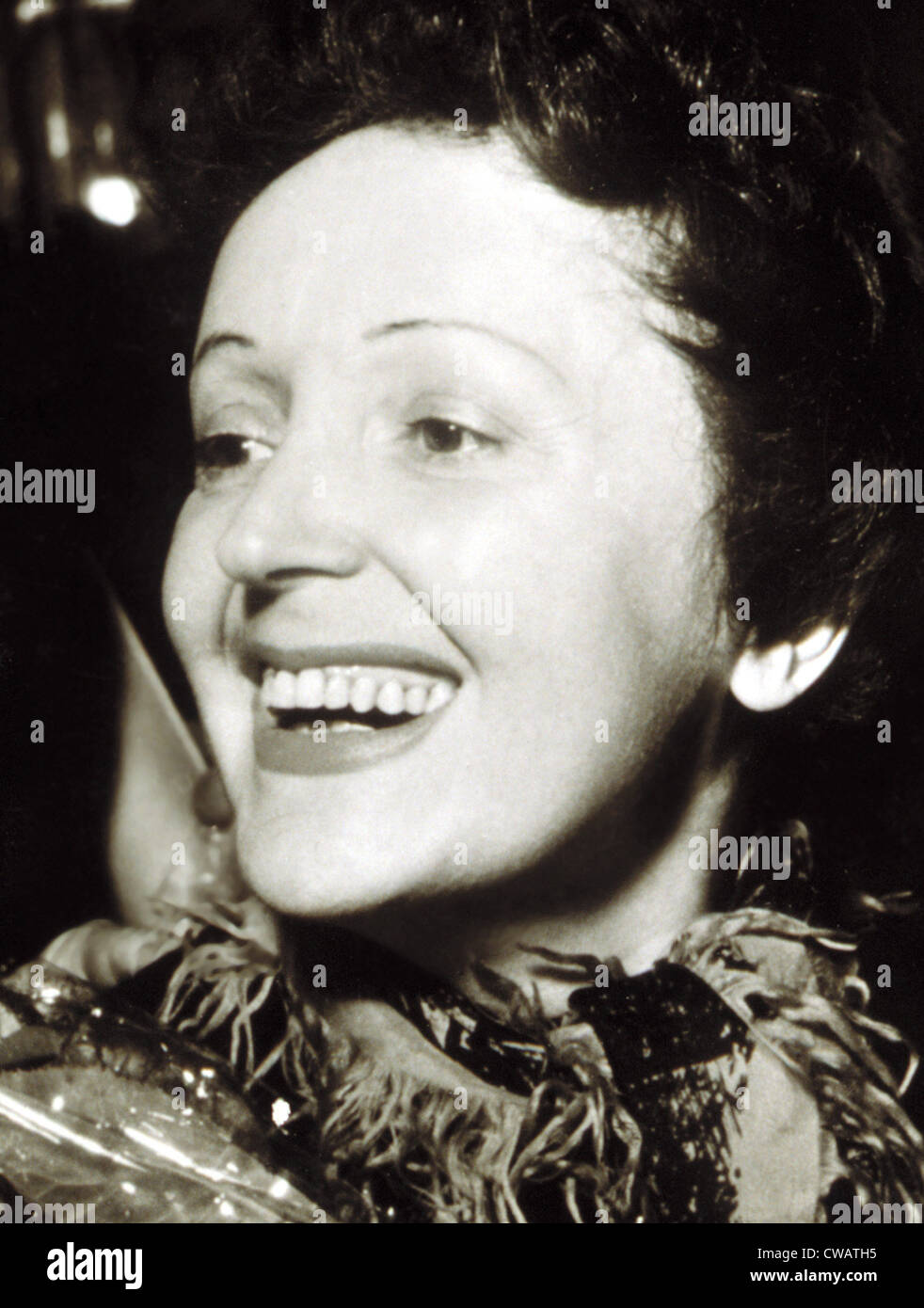 EDITH PIAF, late 1940s.. Courtesy: CSU Archives / Everett Collection - Stock Image