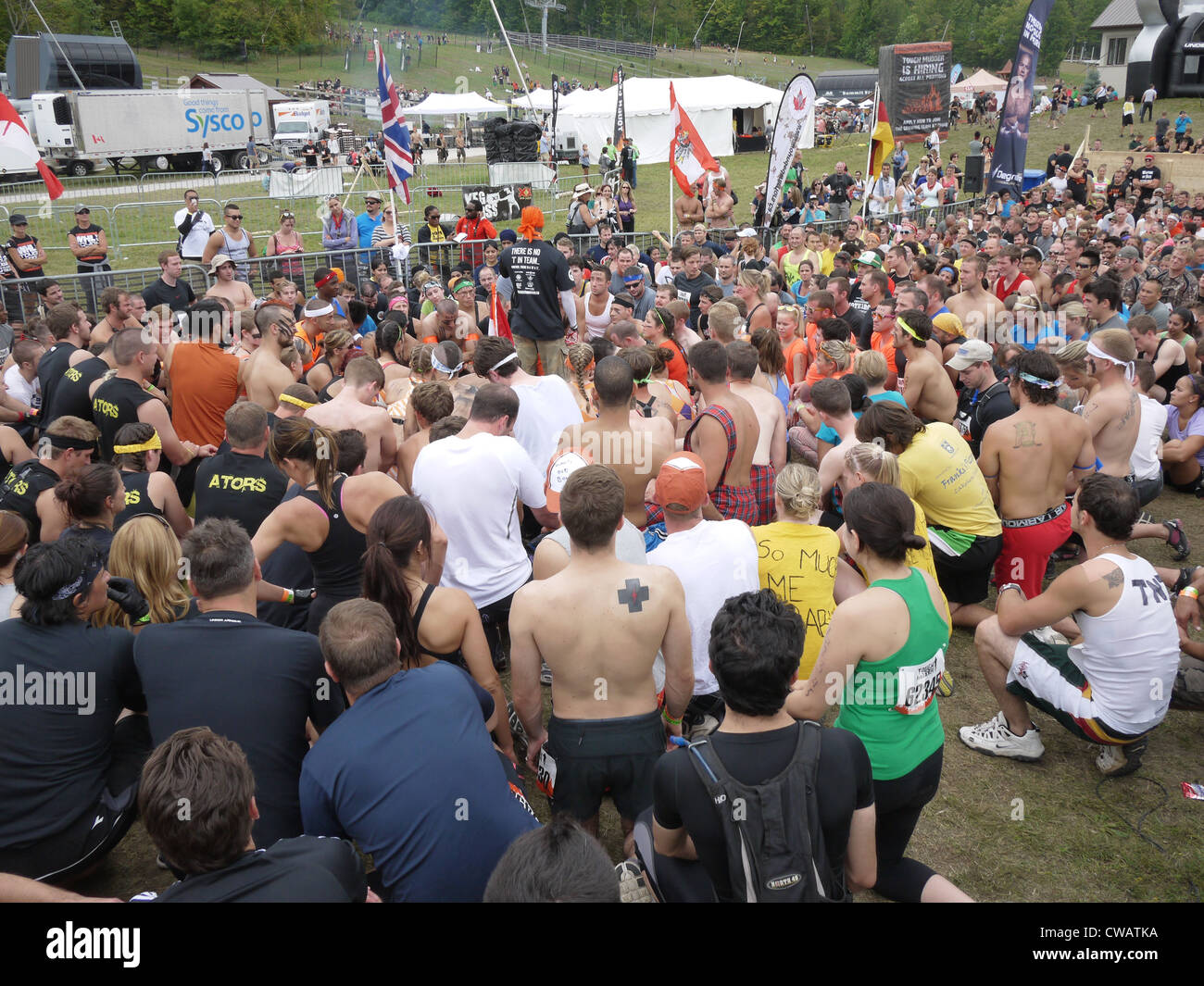 people crowd sports athletics back couching - Stock Image