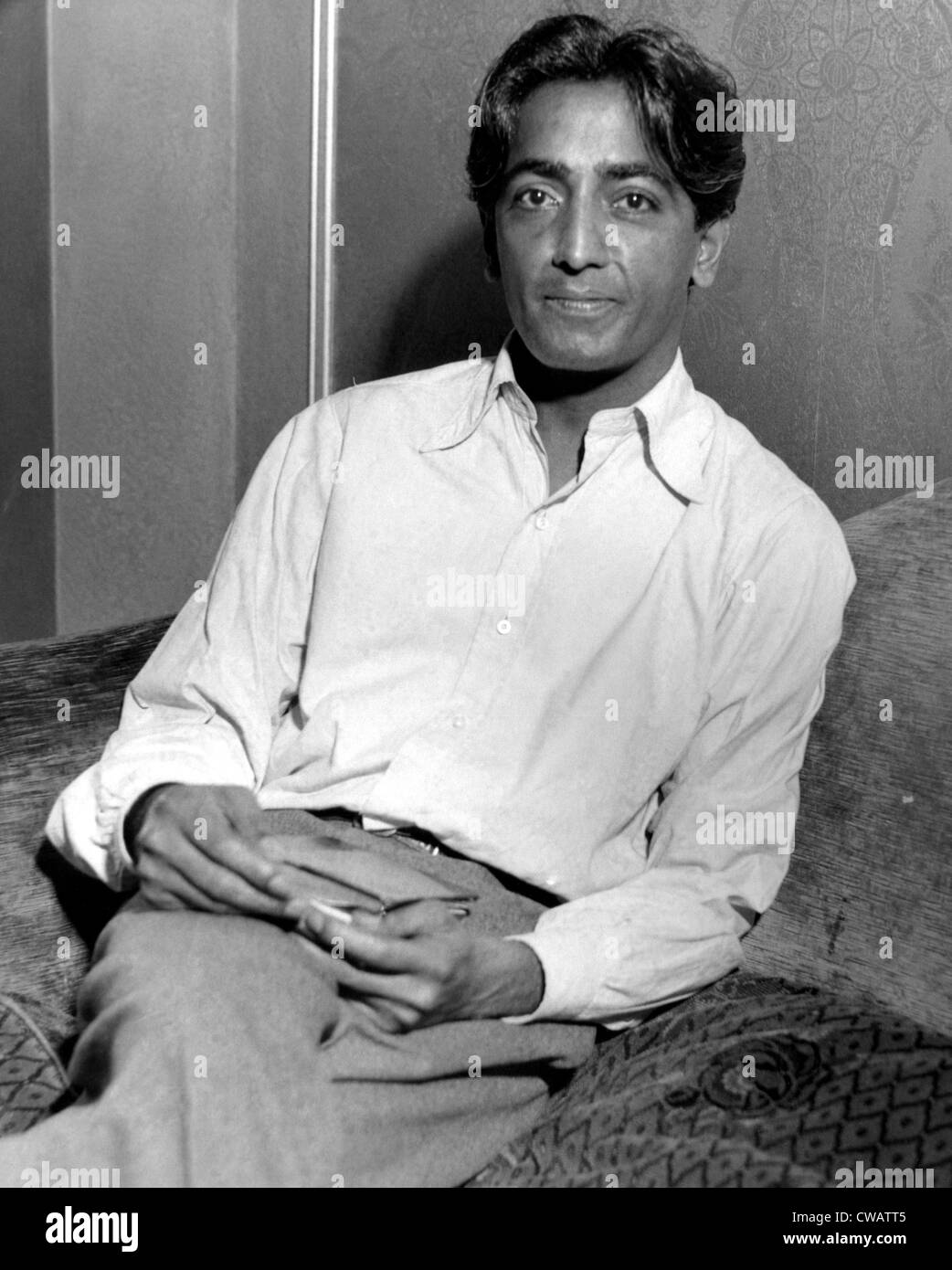 Krishnamurti, writer and lecturer, 1930s. Courtesy: CSU Archives / Everett Collection - Stock Image