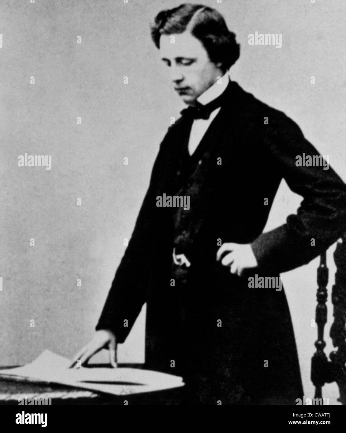 LEWIS CARROLL, (Charles Lutwidge Dogson) at 25. Author of Alice Wonderland, 1857. Courtesy: CSU Archives / Everett - Stock Image