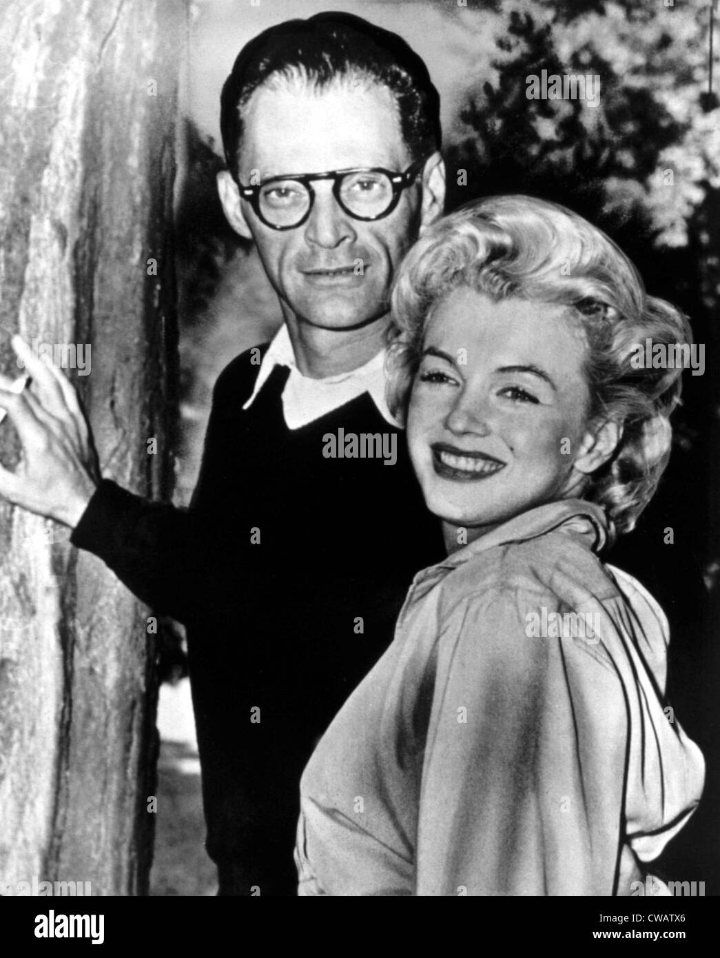 Arthur Miller, Marilyn Monroe at his estate, 1956. Courtesy: CSU Archives / Everett Collection - Stock Image
