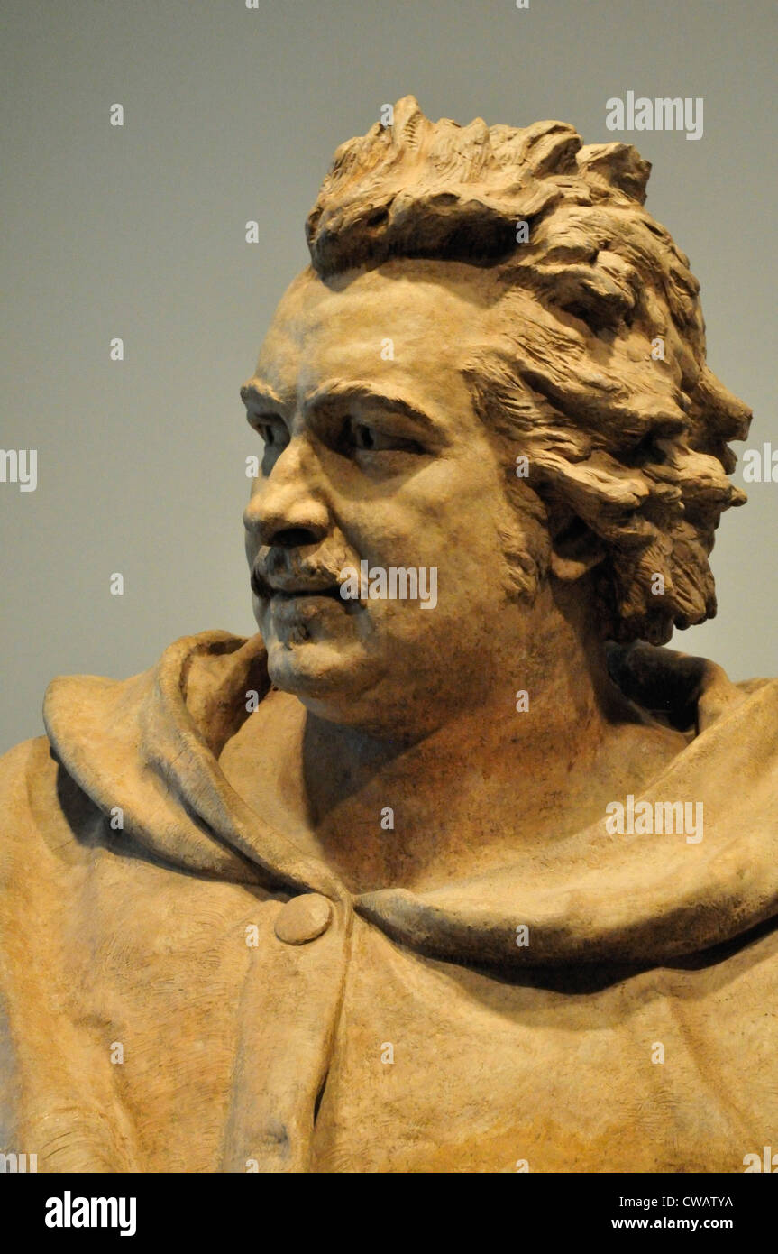 A Bust Of Honore De Balzac By Pierre Eugene Emile Hebert
