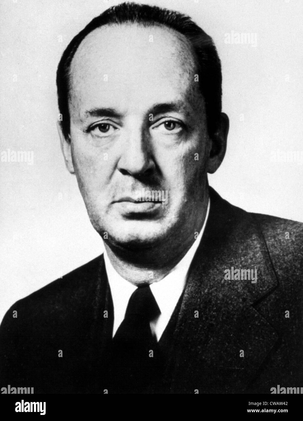 Vladimir Nabokov, professor Cornell University.. Courtesy: CSU Archives / Everett Collection - Stock Image