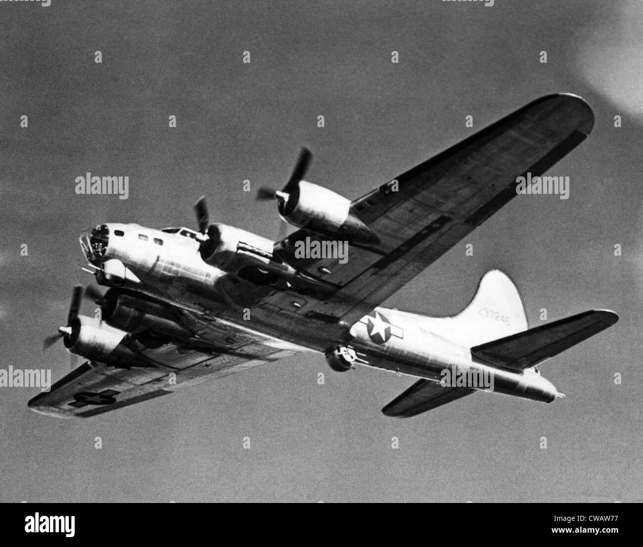 Boeing B-17 Flying Fortress, used against the Germans during World War II, March 1944. Courtesy: CSU Archives/Everett Stock Photo