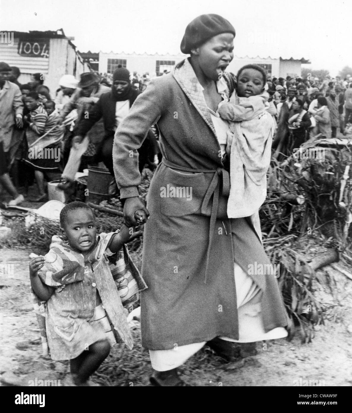Shantytown in South Africa, 1981. Courtesy: CSU Archives / Everett Collection - Stock Image