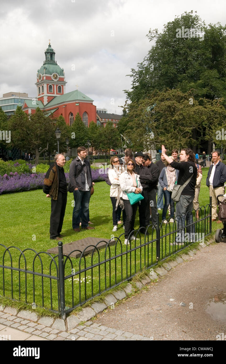 guided tour of stockholm guides guide tourist tourists tourism stockholm sweden swedish Scandinavian Scandinavia - Stock Image