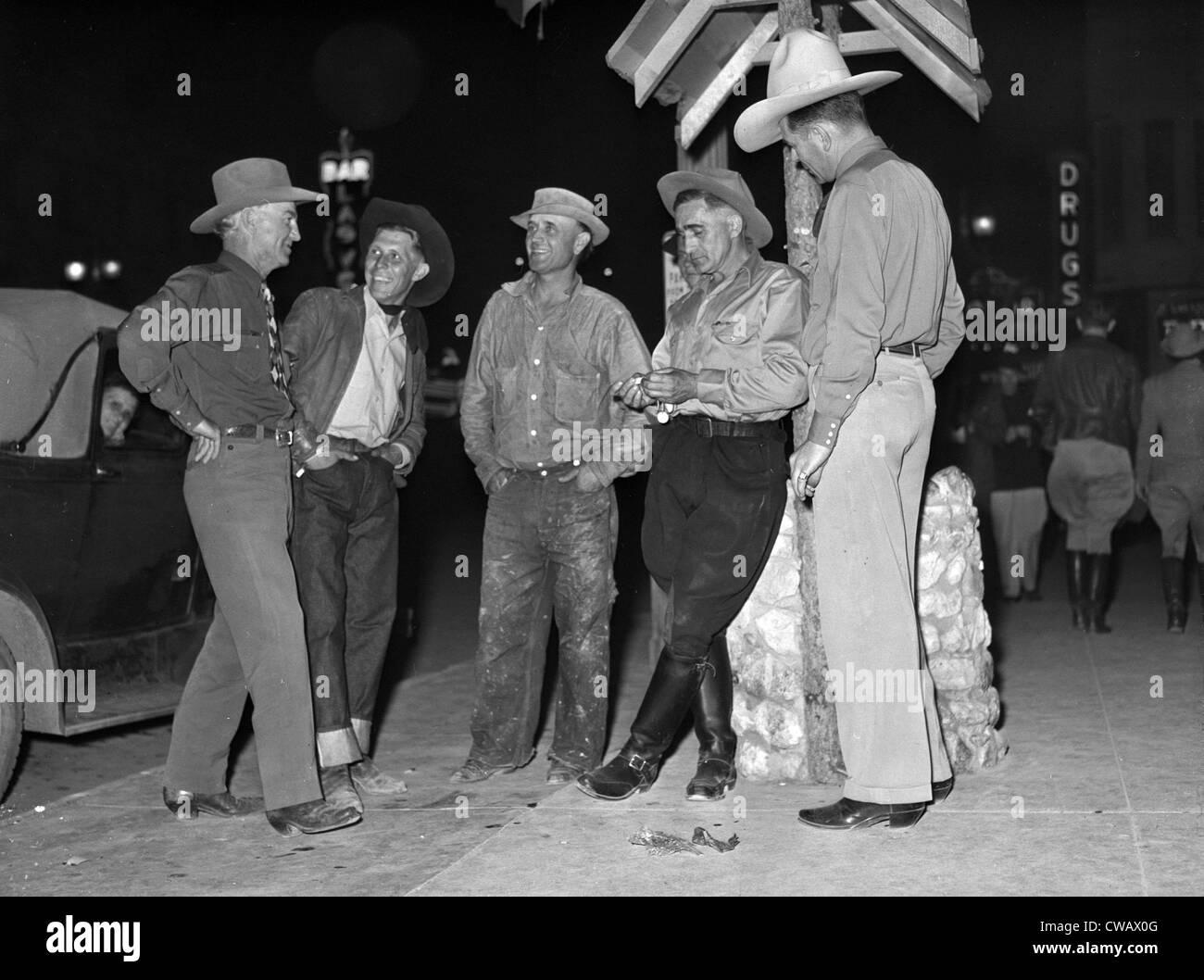 Las Vegas, Nevada, Main Street corner, circa 1940s. - Stock Image
