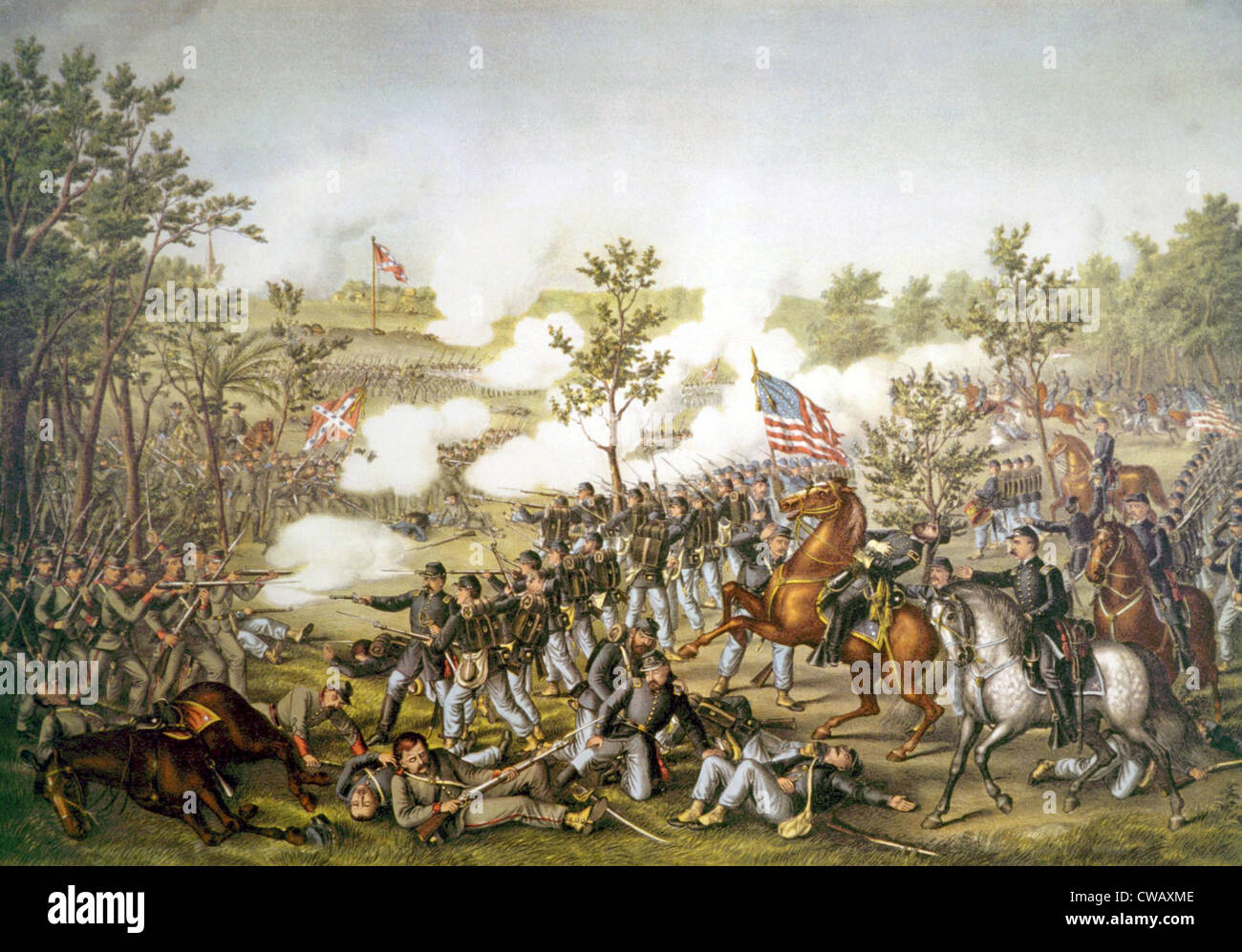The Battle of Atlanta, July 22, 1864 - Stock Image