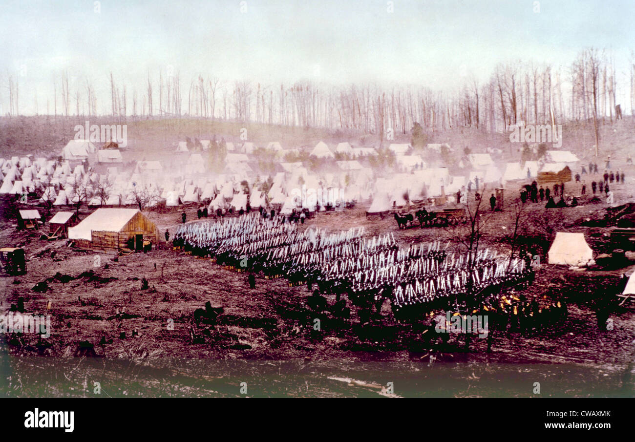 The Union Army of the Potomoc - Stock Image