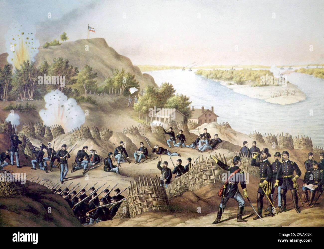 The Siege of Vicksburg, May18-July 4, 1863 - Stock Image
