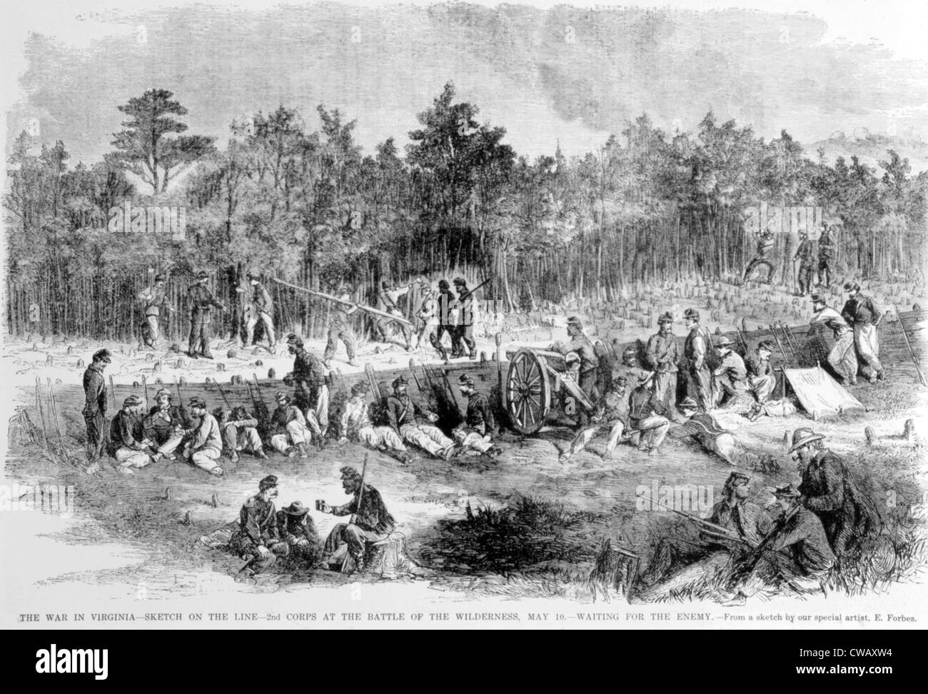 The Battle of the Wilderness, May 10, 1864 - Stock Image