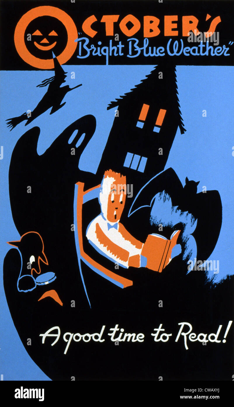 Halloween Poster Art.1950s Poster Art Stock Photos 1950s Poster Art Stock