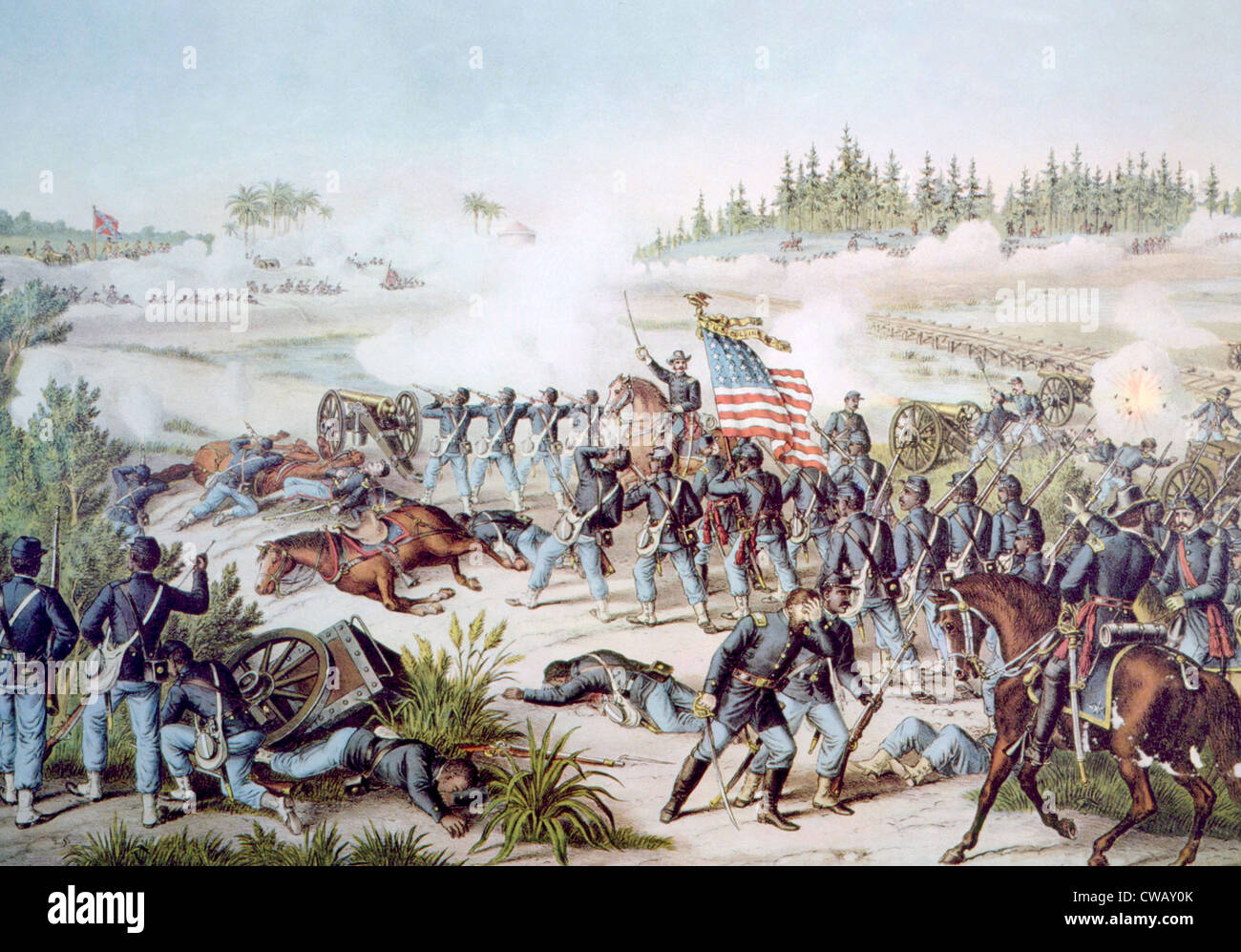 The Battle of Olustee, February 20, 1864 - Stock Image