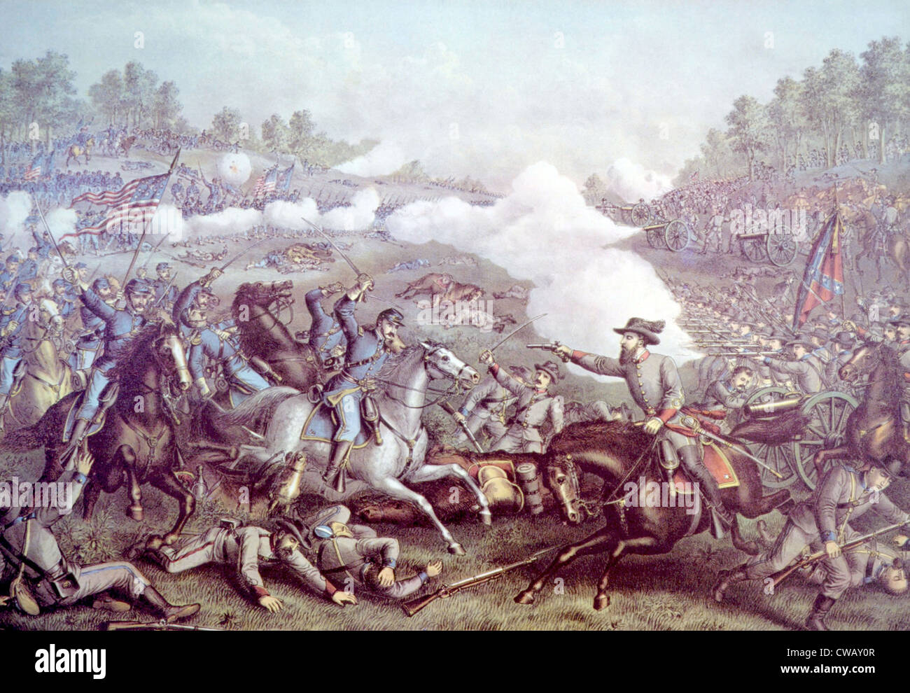 The Battle of Opequon, Steptember 19, 1864 - Stock Image