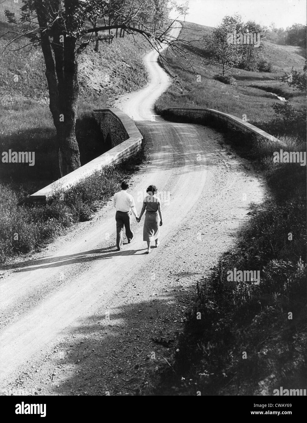 A country road in Pennsylvania, by Philip D. Gendreau, 1930-1935. - Stock Image
