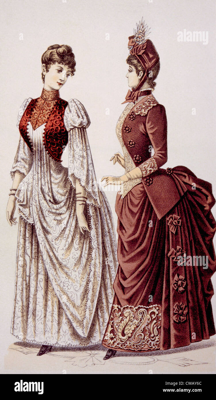 Womens fashion in the 1800s