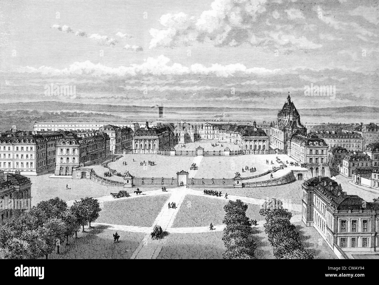 Versailles, c. 19th century. - Stock Image