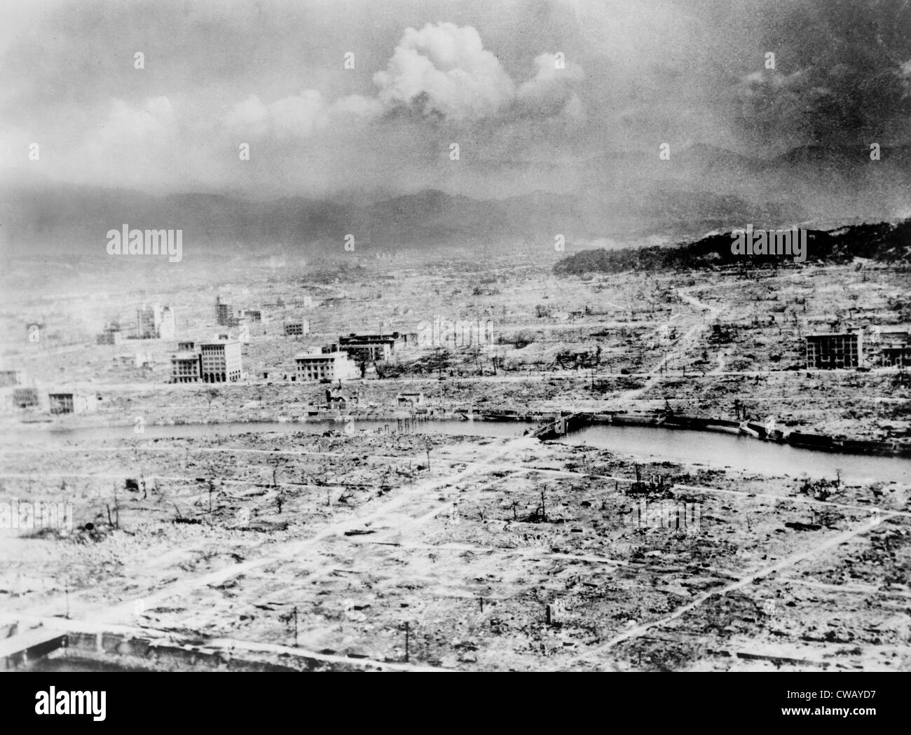 Atomic Bomb Hiroshima Japan After The Was Dropped By US Bomber Enola Gay 1945