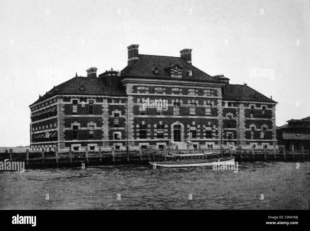 Ellis Island New Hospital Building, c. 1902. - Stock Image
