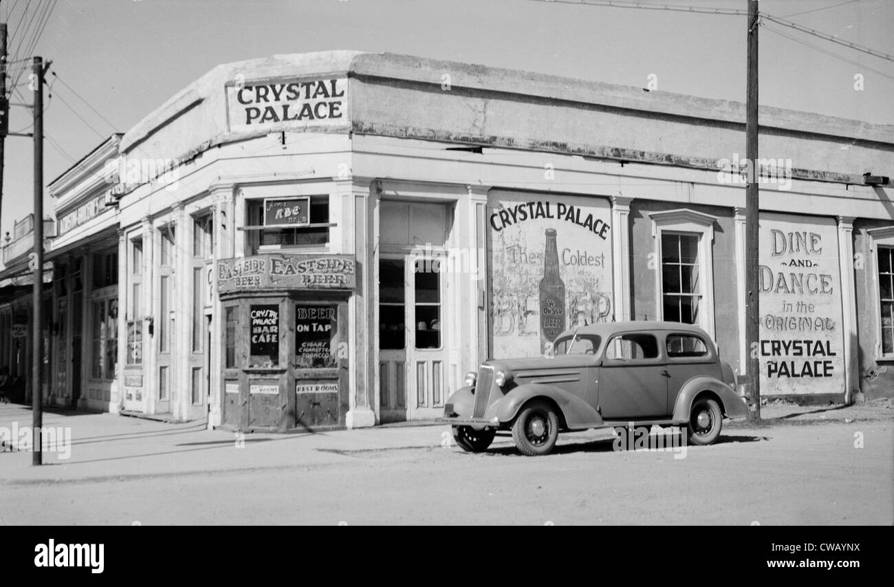 Crystal Palace Saloon, constructed in 1878, Allen & Fifth Streets, Tombstone, Cochise County, Arizona, circa - Stock Image