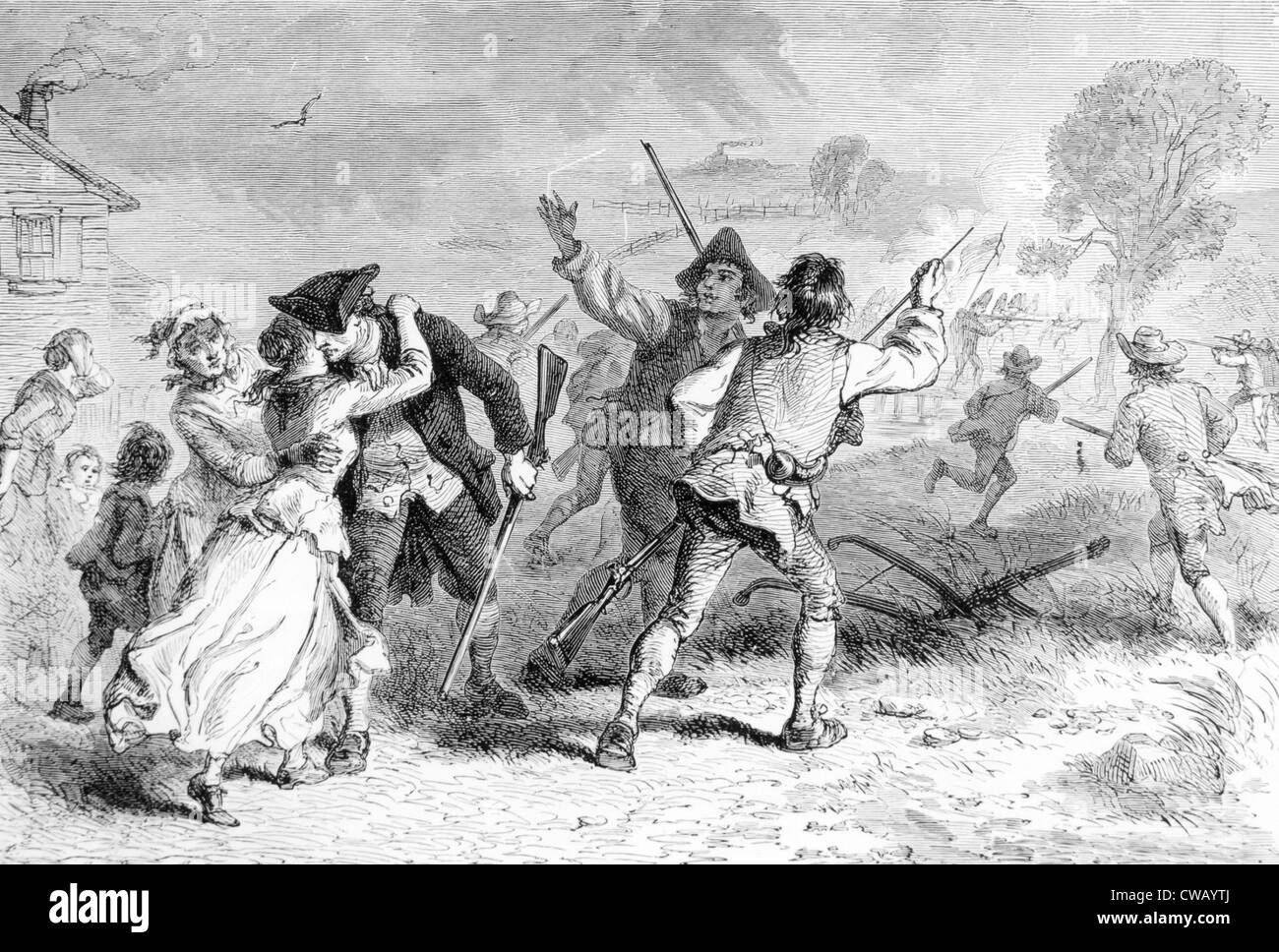 The Battle of Concord, April 19, 1775 - Stock Image