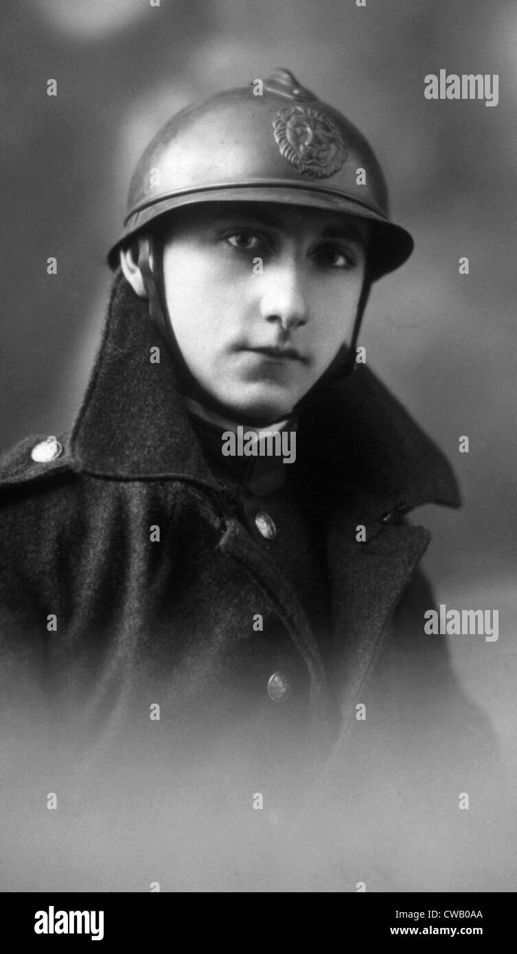 World War I, a French soldier or 'poilu,' ca. 1914 - Stock Image