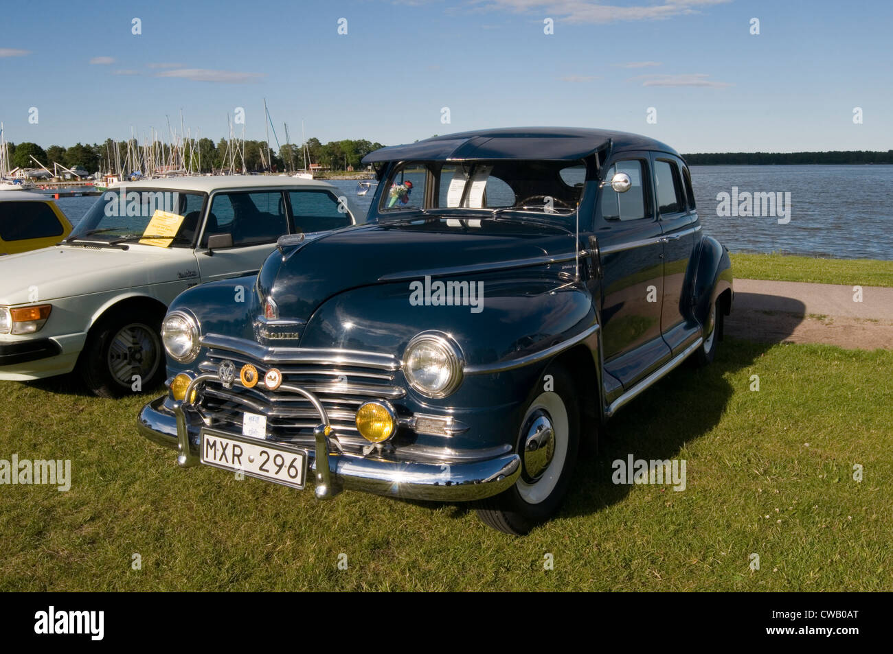 plymouth 1949 classic car cars old american Stock Photo: 50028912 ...
