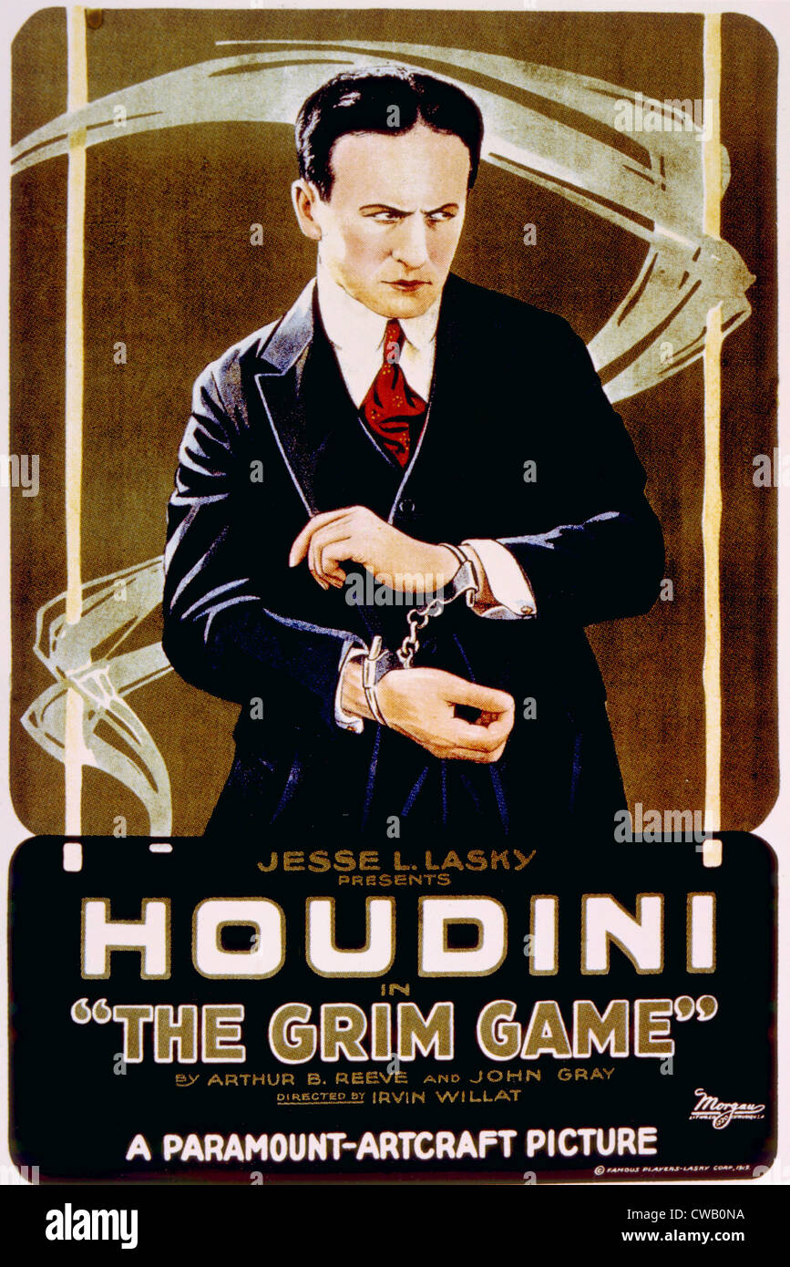 THE GRIM GAME, Harry Houdini, 1919. - Stock Image