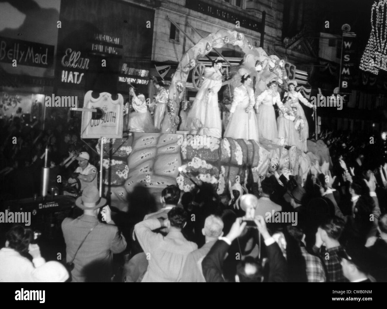 LOUISIANA TERRITORY, Mardi Gras in New Orleans, 1953 - Stock Image