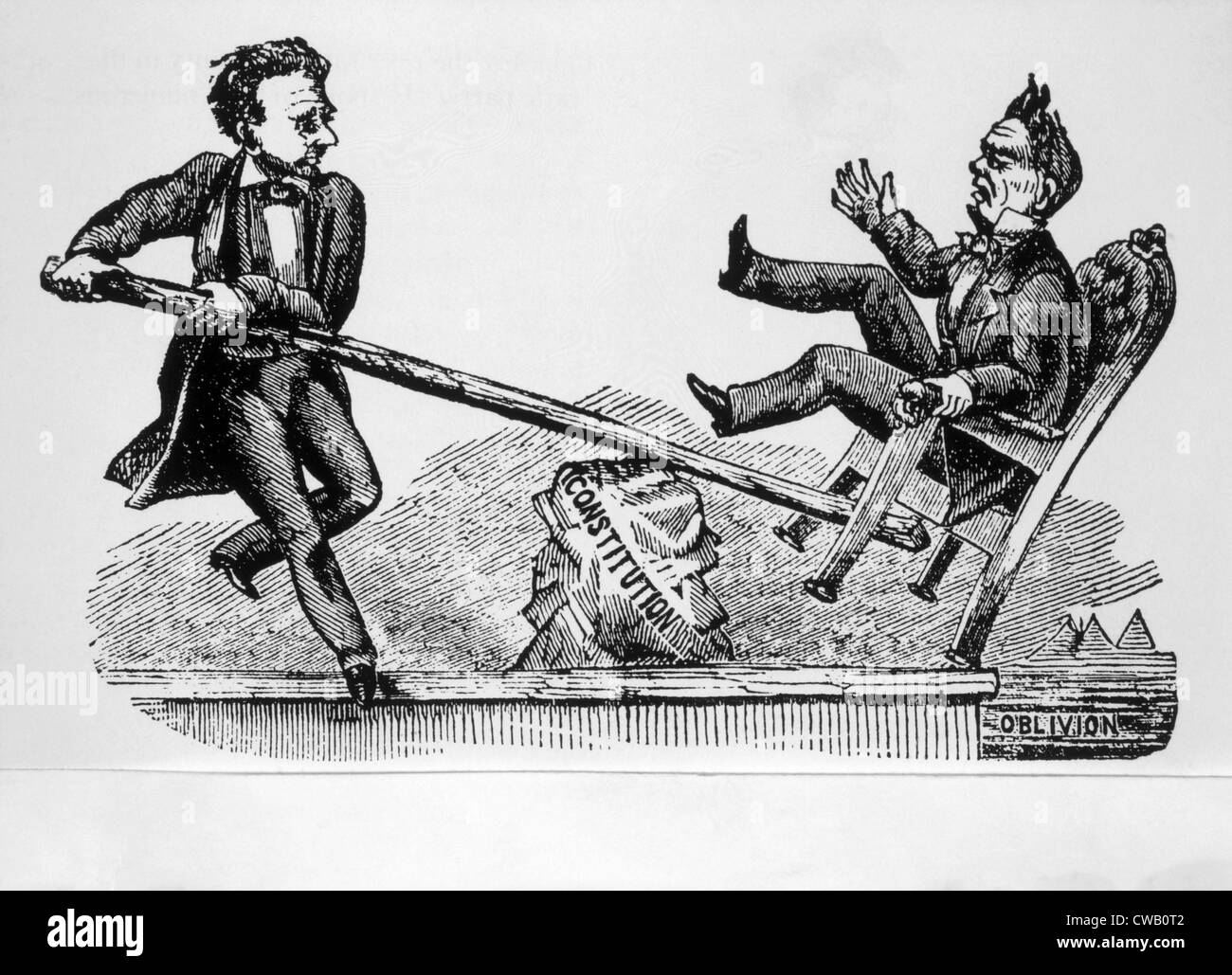 The Power Of The Rail Political Cartoon Depicting Rail Splitter