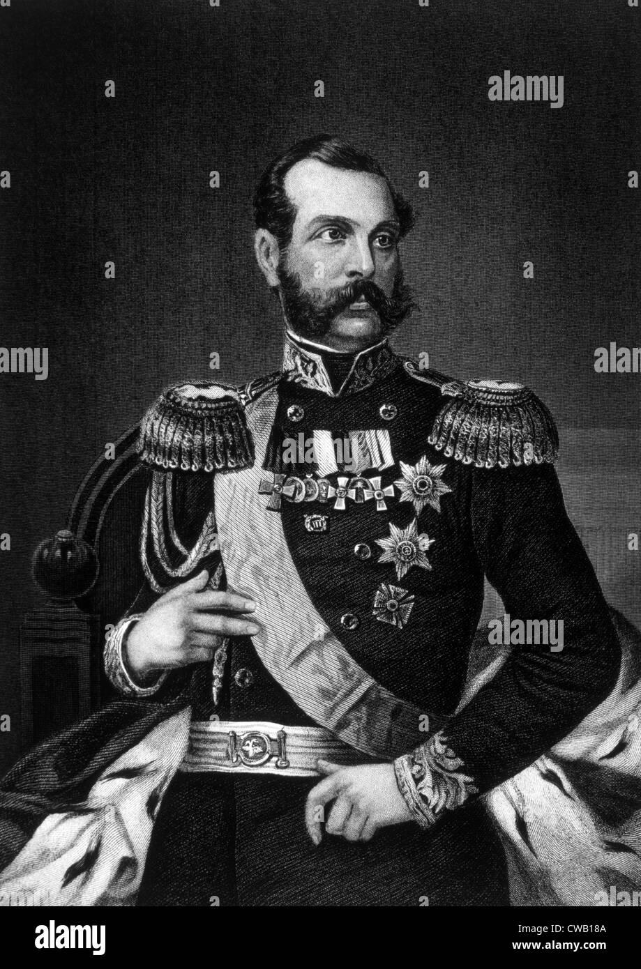 Czar Alexander II (1818-1881), Czar of Russia (1855-1881) - Stock Image