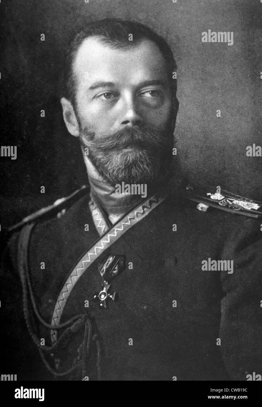 Czar Nicholas II (1868-1918), Czar of Russia (1894-1917) - Stock Image