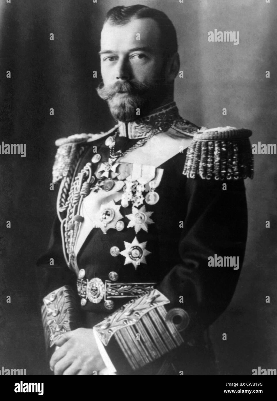 Czar Nicholas II (1868-1918), Czar of Russia (1894-1917), 1917 - Stock Image