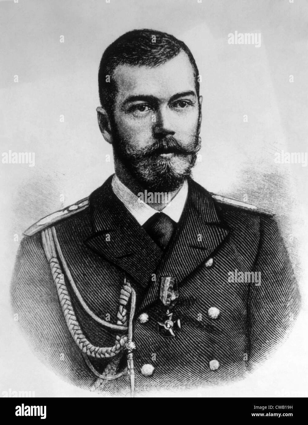 Czar Nicholas II (1868-1918), last Czar of Russia (1894-1917) - Stock Image