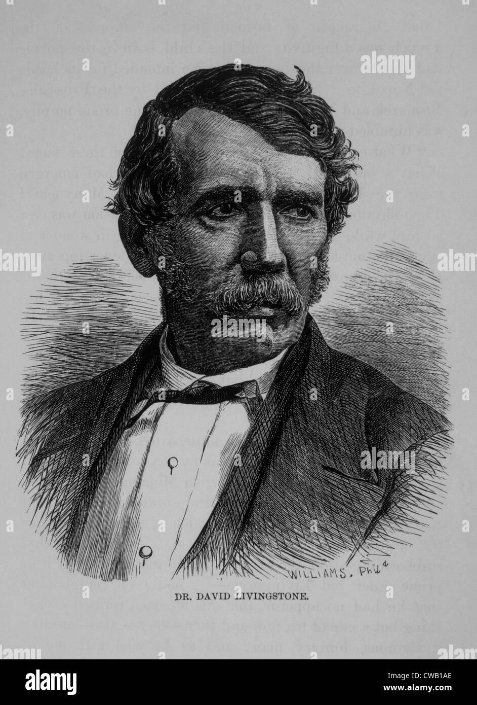 David Livingstone (1813-1873), engraving 1878 - Stock Image
