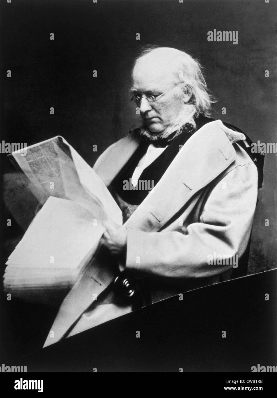 Horace Greeley (1811-1872), photograph by Mathew Brady - Stock Image