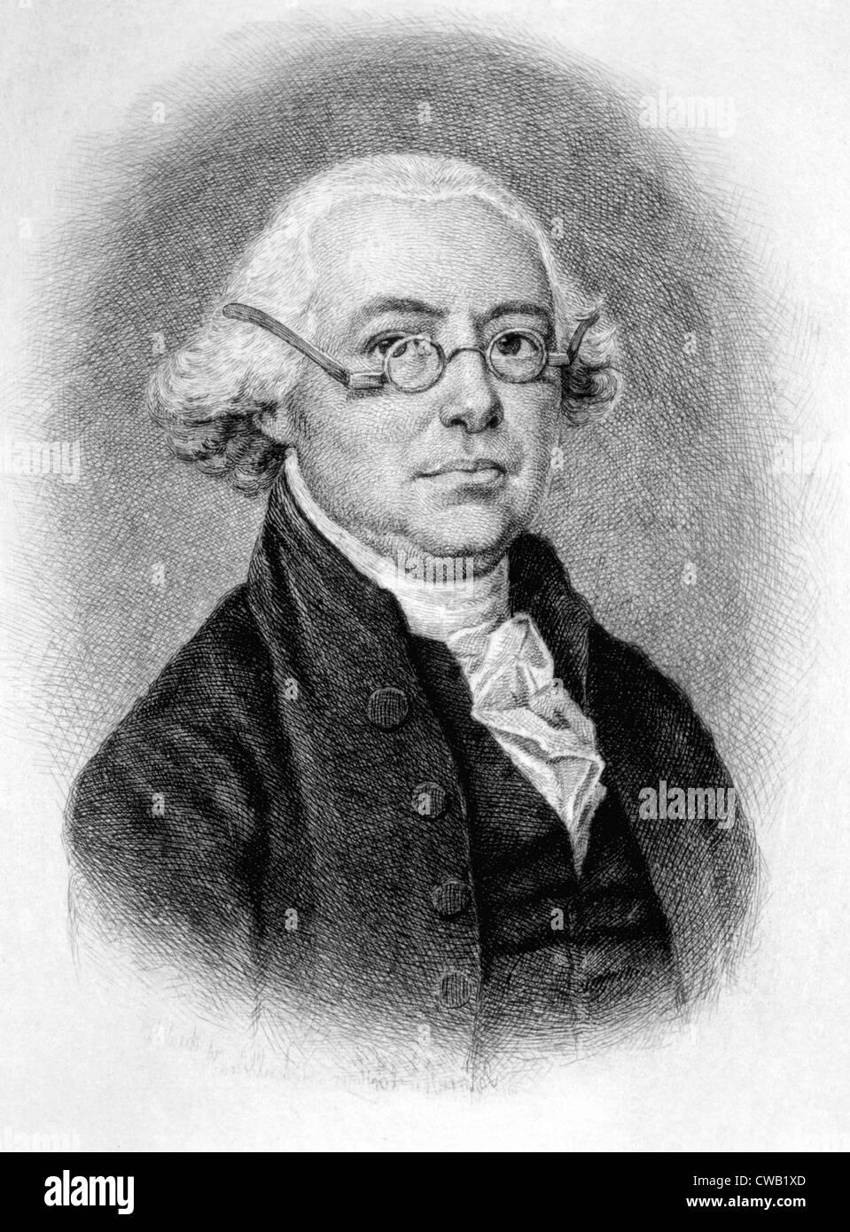 James Wilson (1742-1798), engraving 1889 - Stock Image