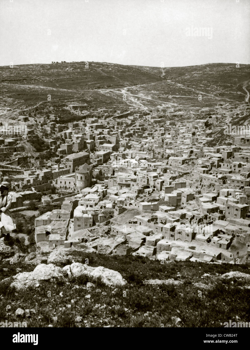 Town of Es Salt, ancient Jabesh-Gilead, Jordan, circa 1920. - Stock Image