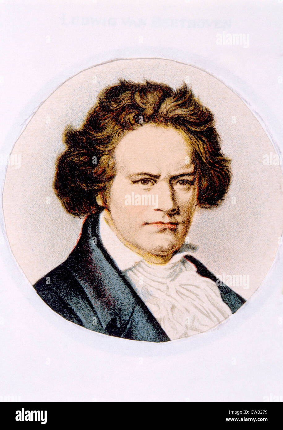 Ludwig van Beethoven (1770-1827) Stock Photo