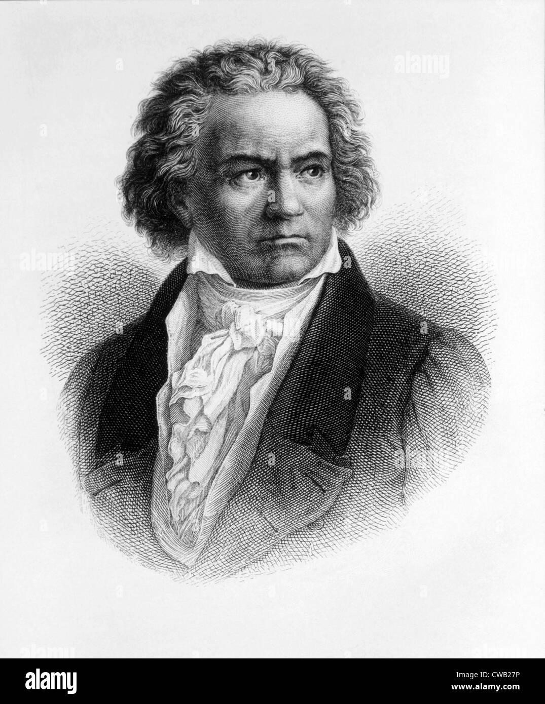 Ludwig van Beethoven (1770-1827) Stock Photo