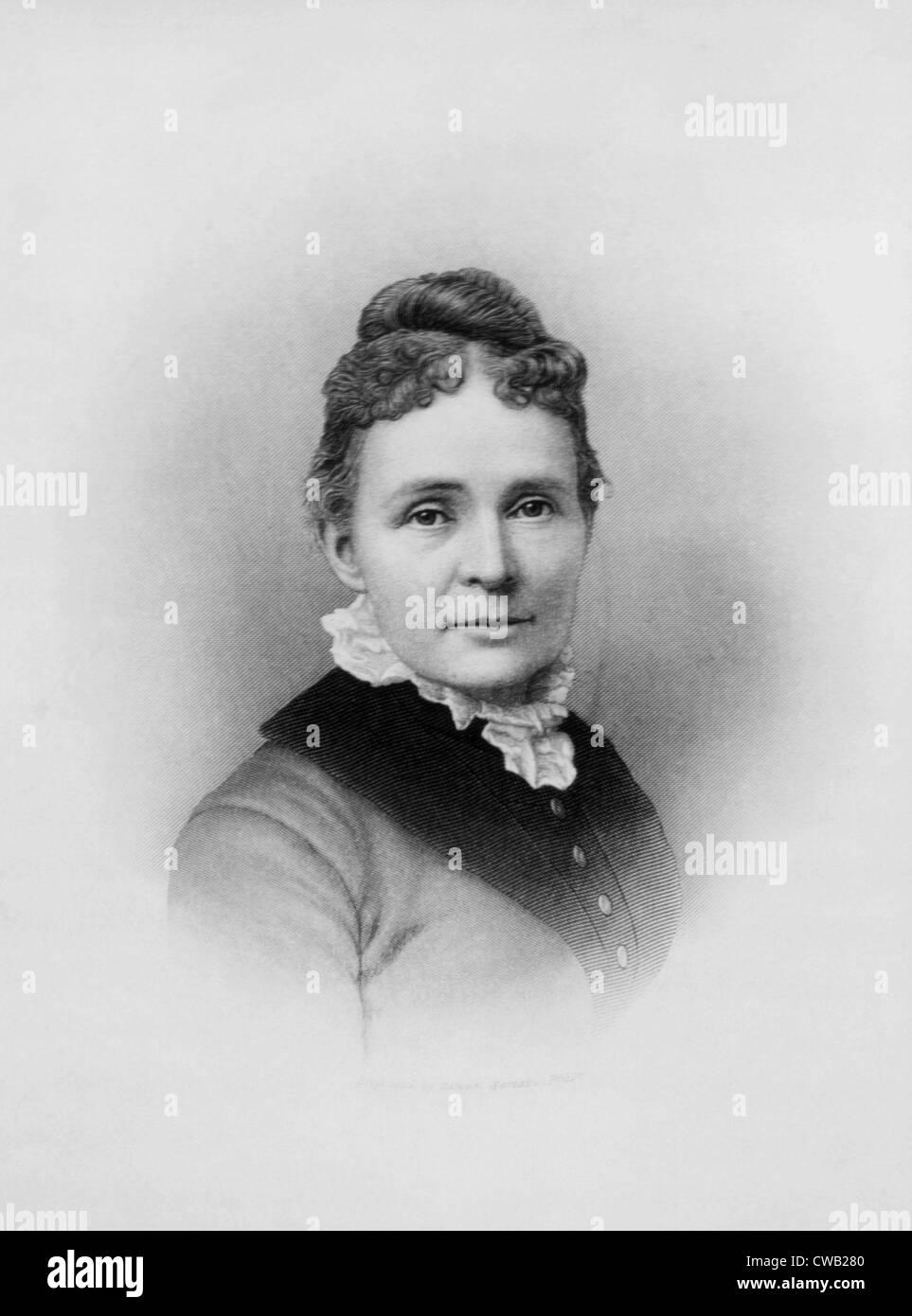 Lucretia Garfield, U.S. First Lady 1881 - Stock Image