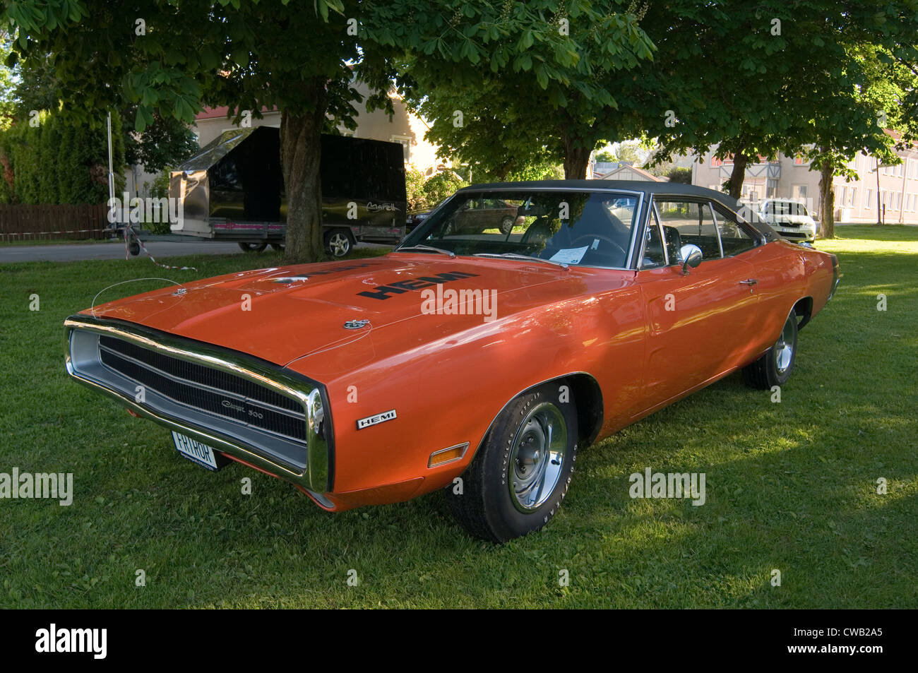 dodge charger classic muscle car cars hemi 500 orange 1969 Stock ...