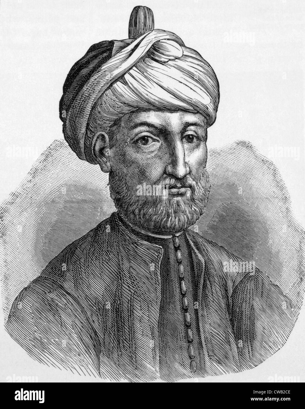 Muhammad, the Prophet of Islam (ca. 570-632 A.D.), engraving from 'Life of the Prophet' by Sieur de Reyr, - Stock Image