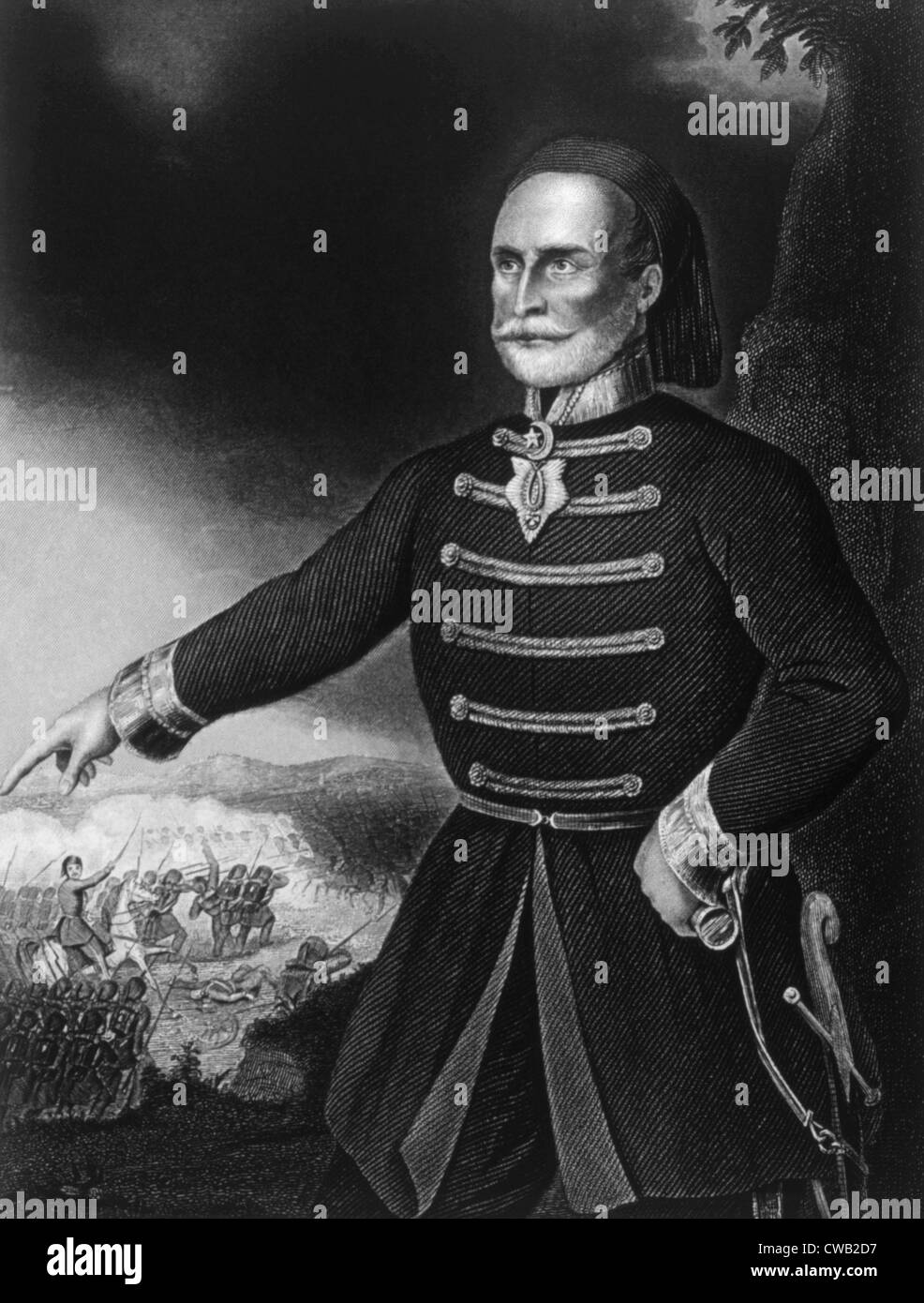 Omar Pasha (1806-1871), commander of the Turkish army during the Crimean War - Stock Image