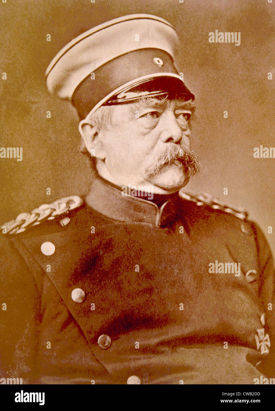 Otto von Bismarck (1815-1898), Chancellor of Germany, known as the Iron chancellor, ca. 1880 - Stock Image